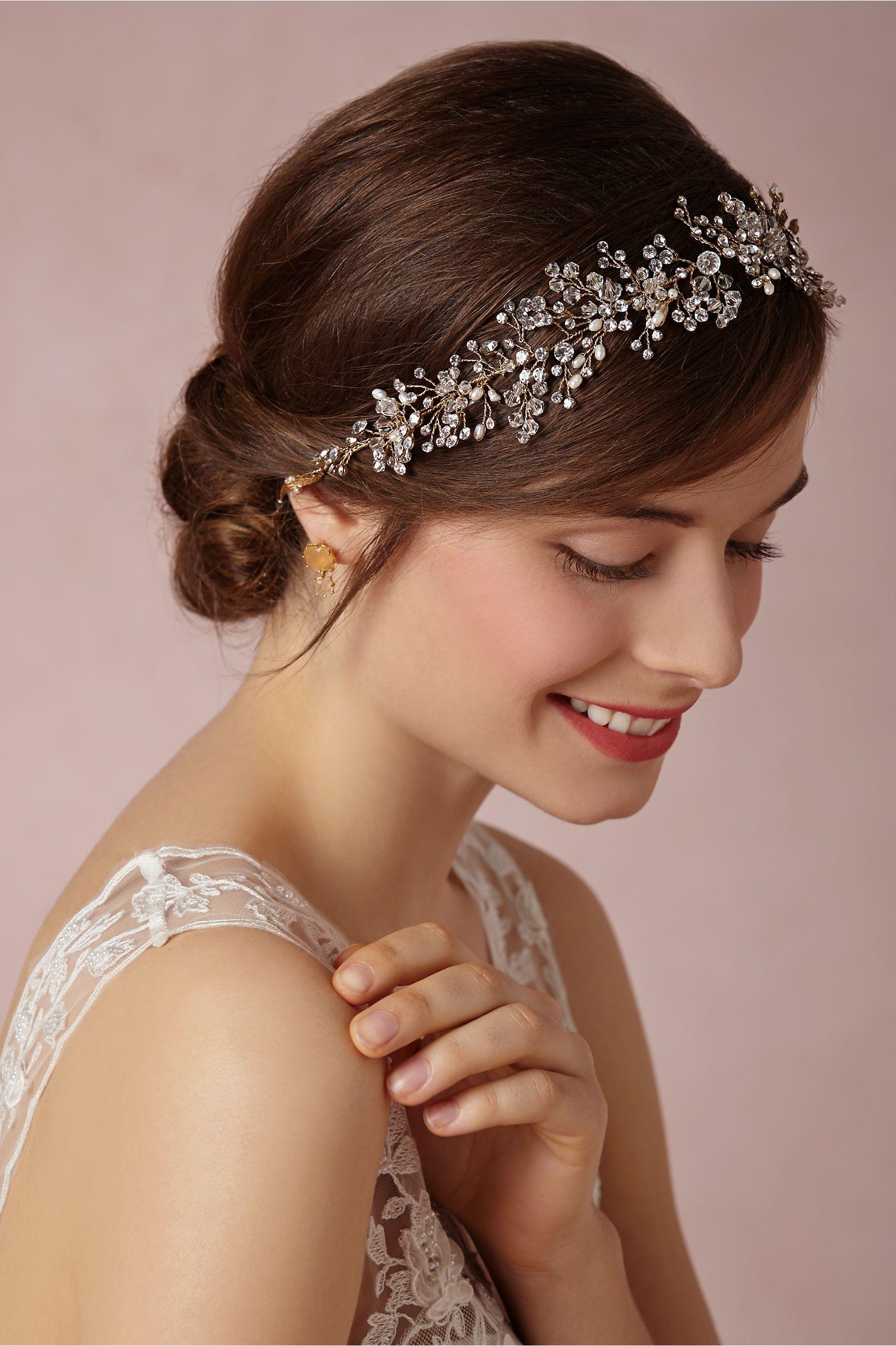 breathless headpiece: swarovski crystals, freshwater pearls, and