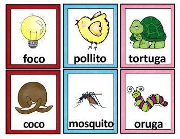Spanish Rhyming Words Tarjetas De Palabras Que Riman Rhyming Words Kindergarten Activities Kindergarten Readiness Checklist