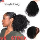 Extensiones de cabello con cordón grueso real Afro Bun Puff Kinky Curly Pony Tail 65g JL …