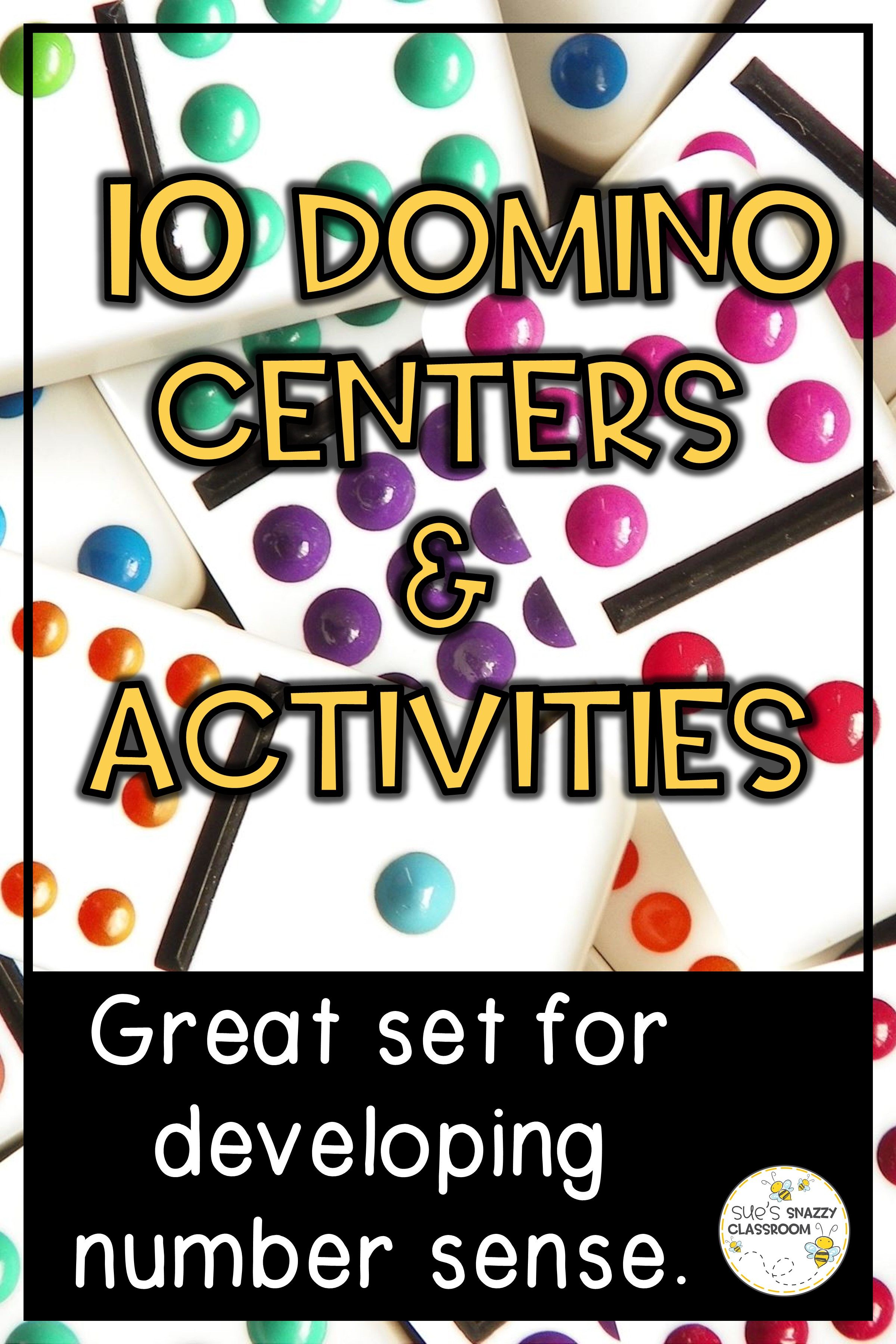 Math Centers Activities And Games With Dominoes In