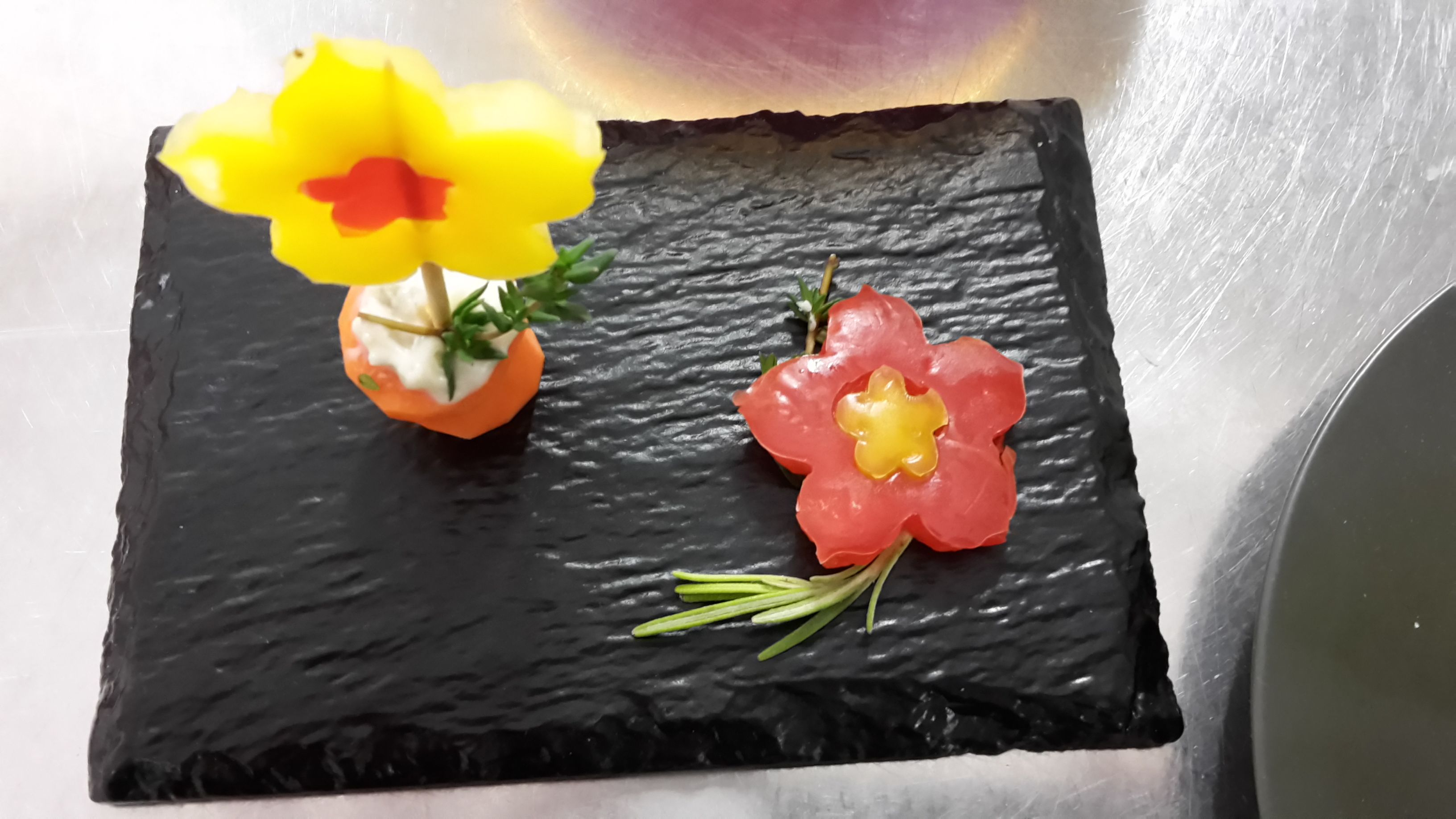 #visualfood #fiori #fingerfood