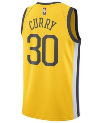 bb00a0415 Nike Men s Stephen Curry Golden State Warriors Earned Edition Swingman  Jersey - Yellow XXL