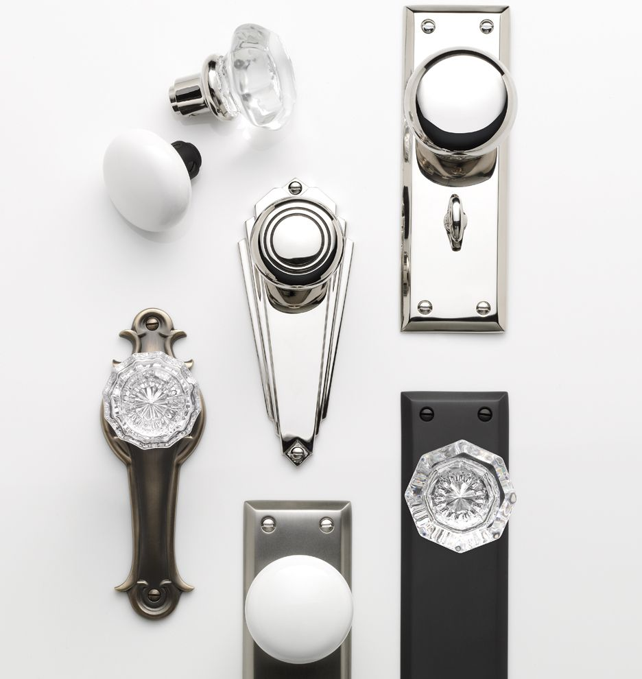 Wentworth Fluted Crystal Knob Interior Door Set | Door sets, Crystal ...