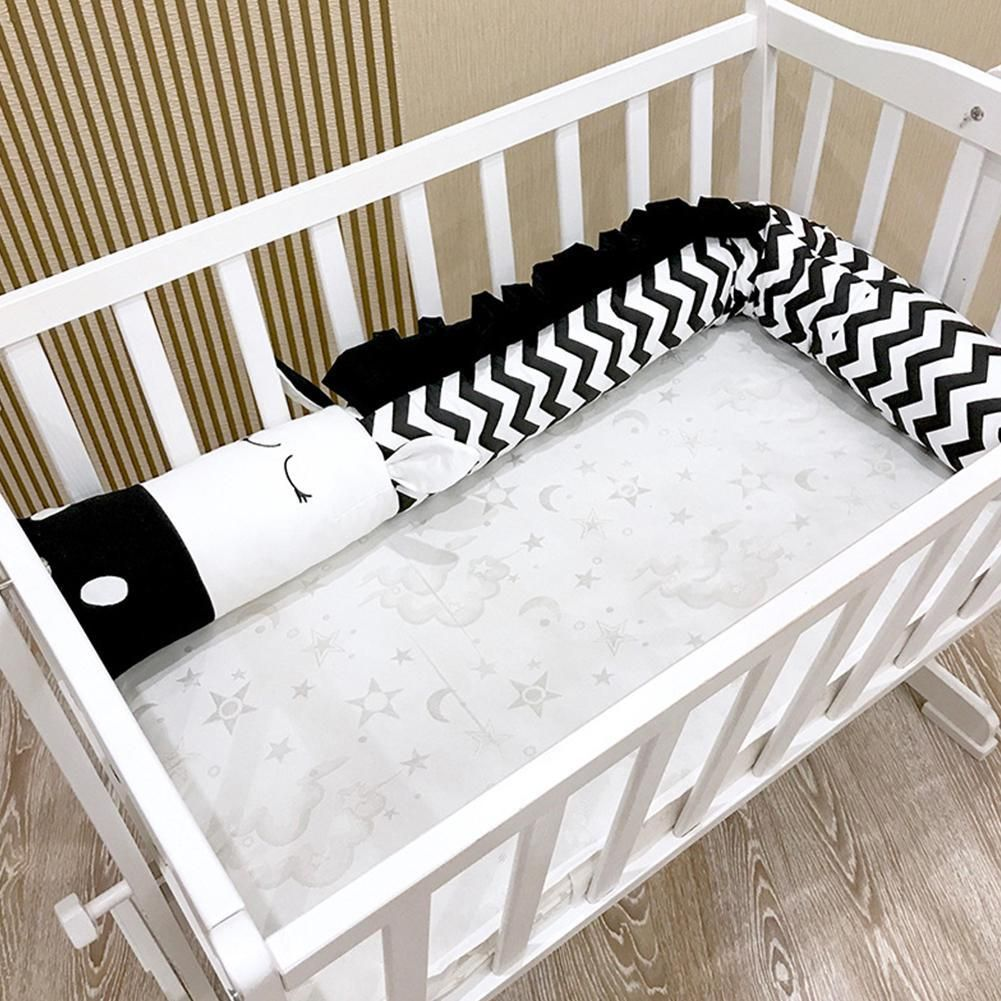 Newborn Baby Bed Fence Cartoon Zebra Shape Bed Bumper Safety Crib Kids Room Bedding Decoration Baby Crib Bumpers Bed Bumpers Newborn Baby Bedding
