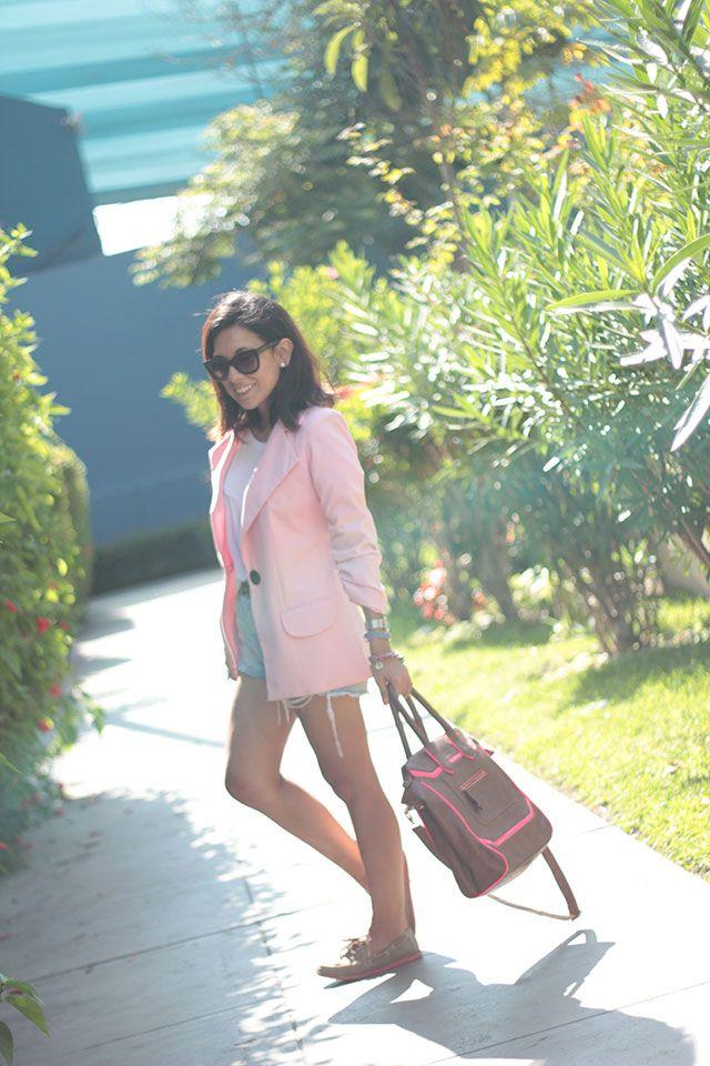 Outfit con blazer rosado | el diario de Pink Chick