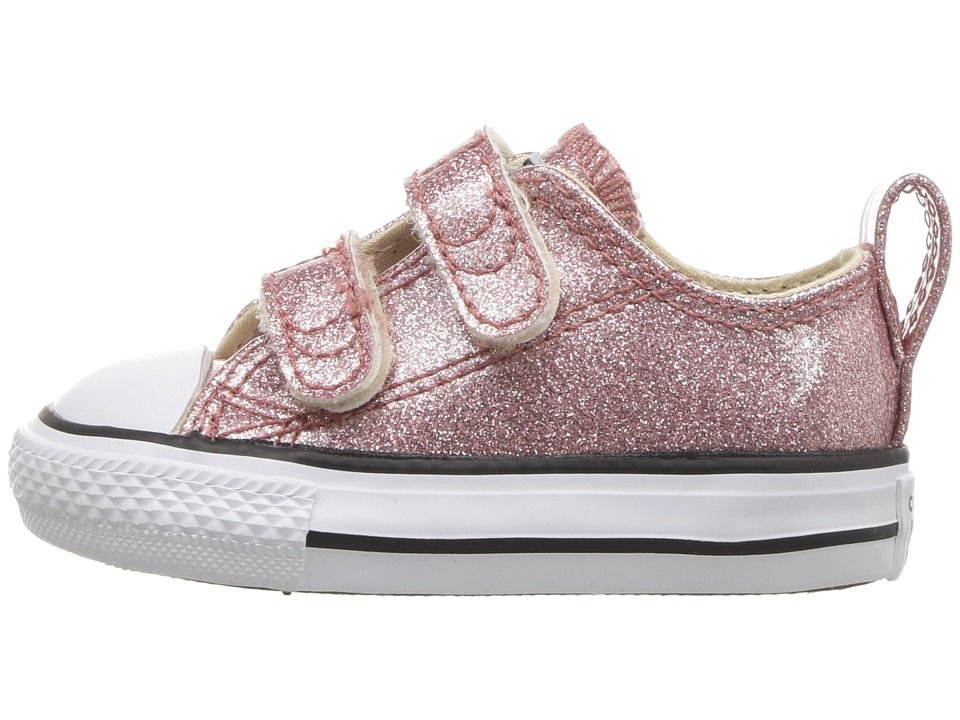 ada42a0625b4 Converse Kids Chuck Taylor All Star 2V Ox (Infant Toddler) Girl s Shoes  Rose Gold Natural White