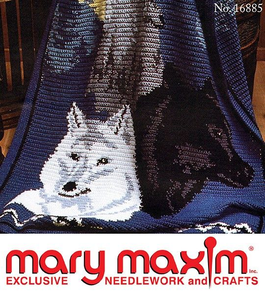 Wolves Afghan Pattern   chas by Donna Anderson   Pinterest ...