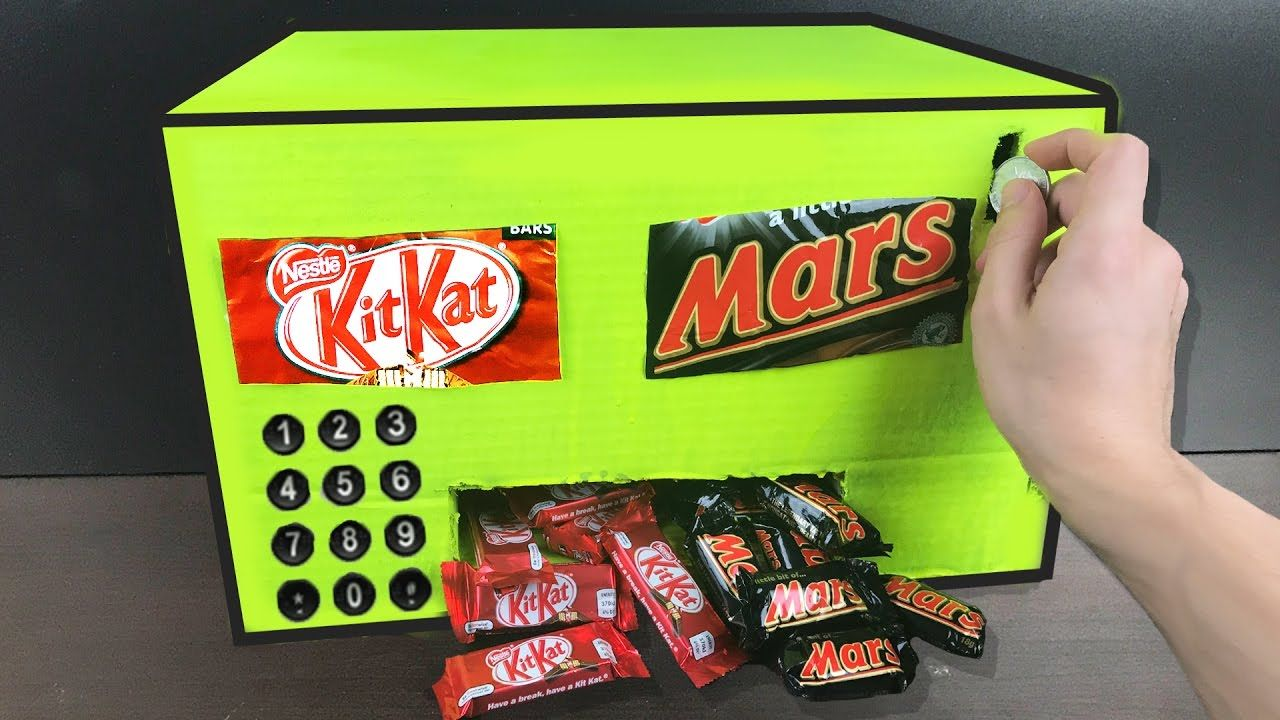 How to make a chocolate vending machine homemade