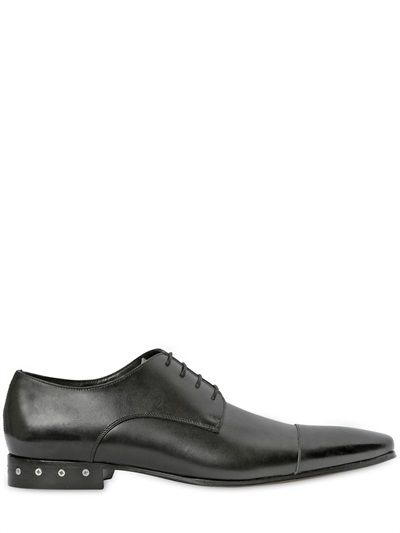 DSQUARED2 - BRUSHED LEATHER DERBY LACE-UP SHOES