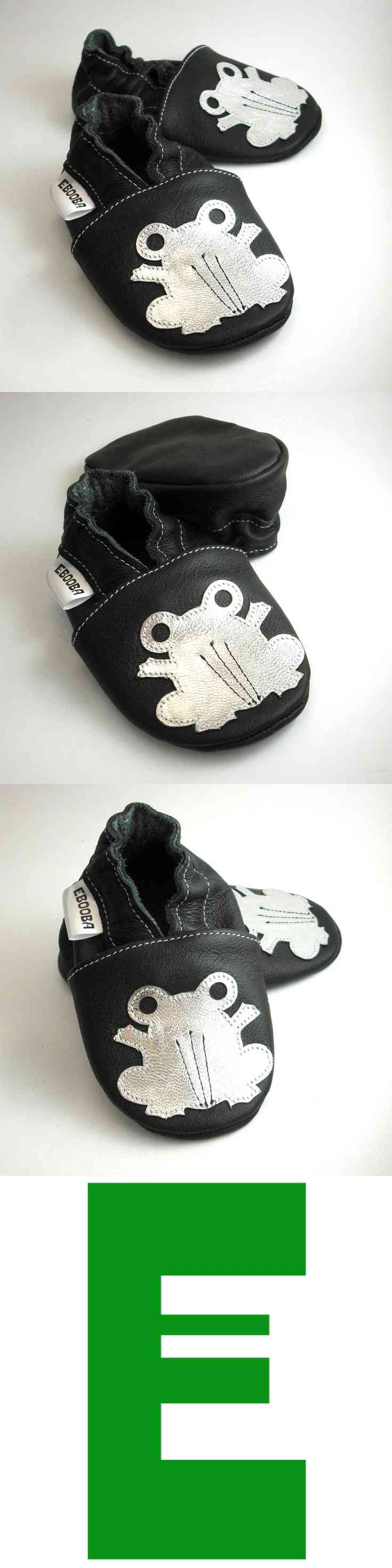 soft sole baby shoes leather infant girl boy t frog silver black