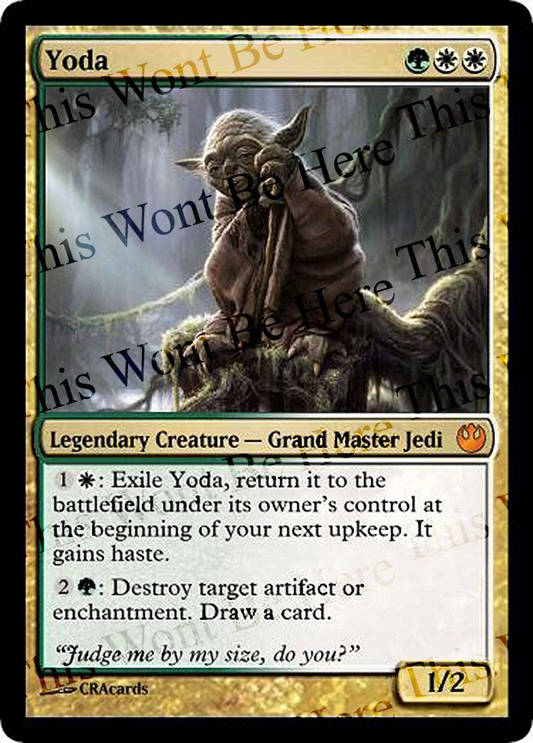 Magic The Gathering Parody Foil Card Yoda By Cracards On