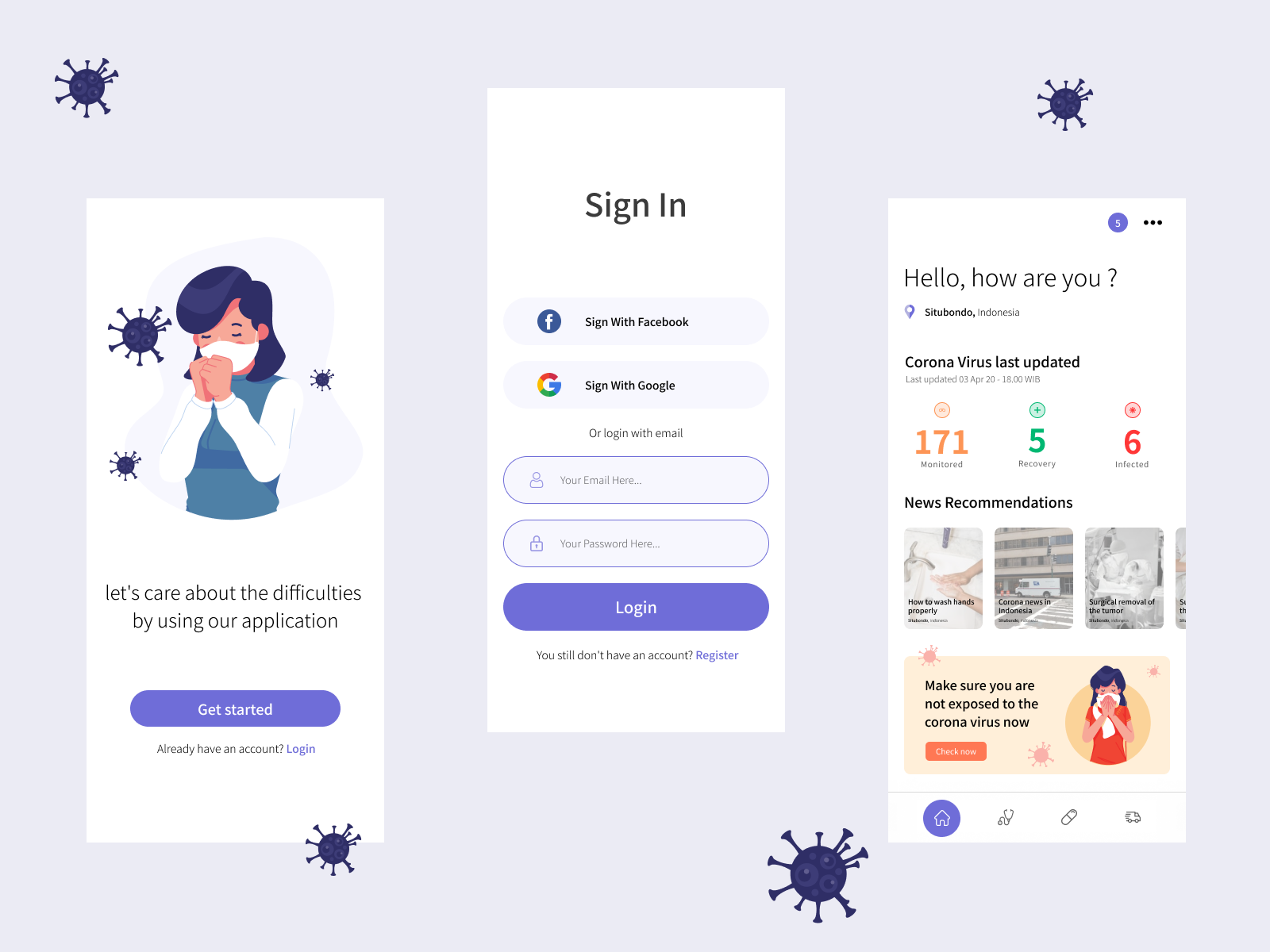 Corona Application All Needs In One App Design Exploration In 2020 App Design App Dribbble Design