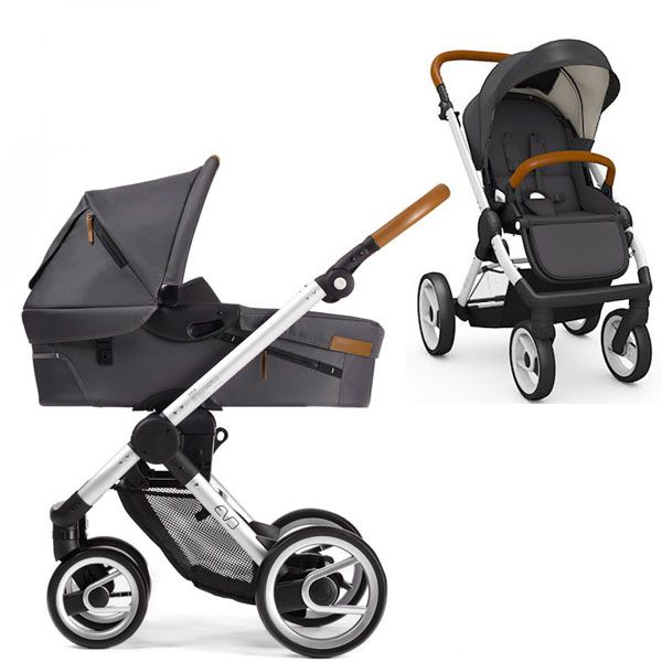 mutsy kinderwagen evo silver dark grey babyartikel f r. Black Bedroom Furniture Sets. Home Design Ideas