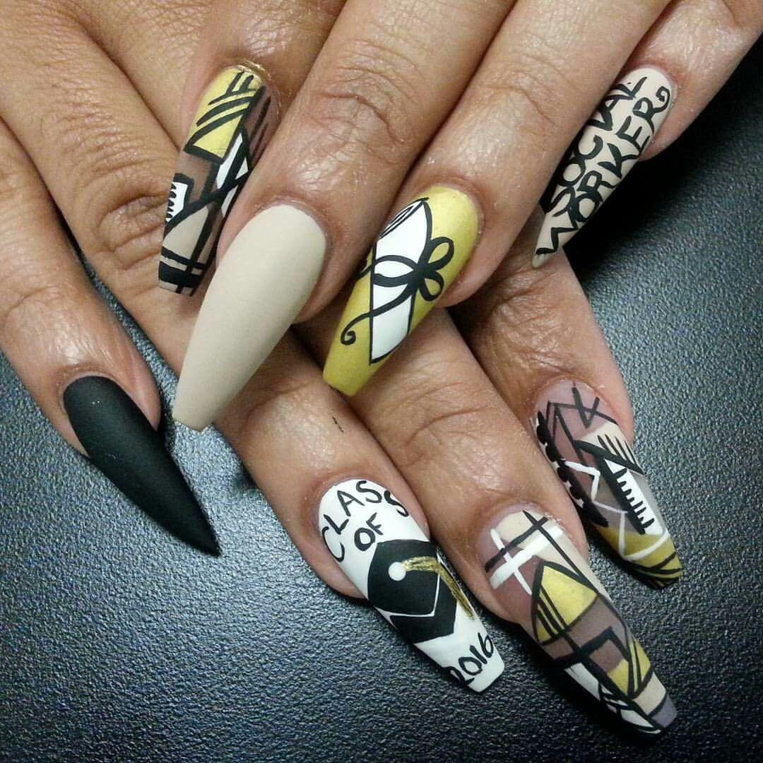 Pinterest @IIIannaIII Graduation Nails - Pinterest @IIIannaIII Graduation Nails Nail Designs Pinterest