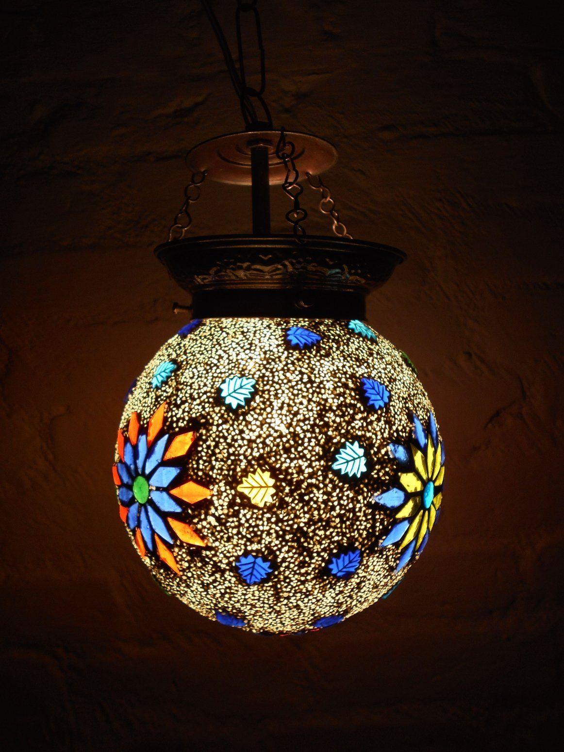 Susajjit Decor Artistic Mosaic Lamp Round Shape Hanging Lamp Shade