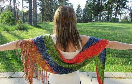 Summertime Shawl Knit In Diamond Luxury Summertime Yarn Free