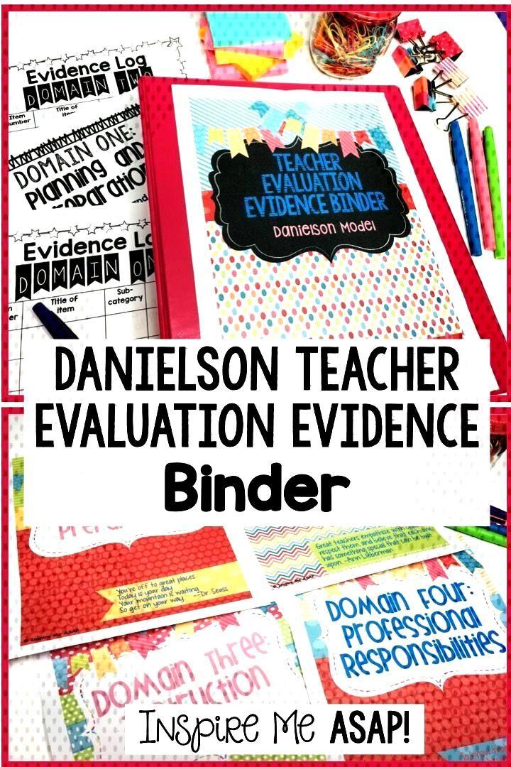 Danielson Teacher Evaluation Evidence Binder Do you dread the thought of preparing your Teacher Eva