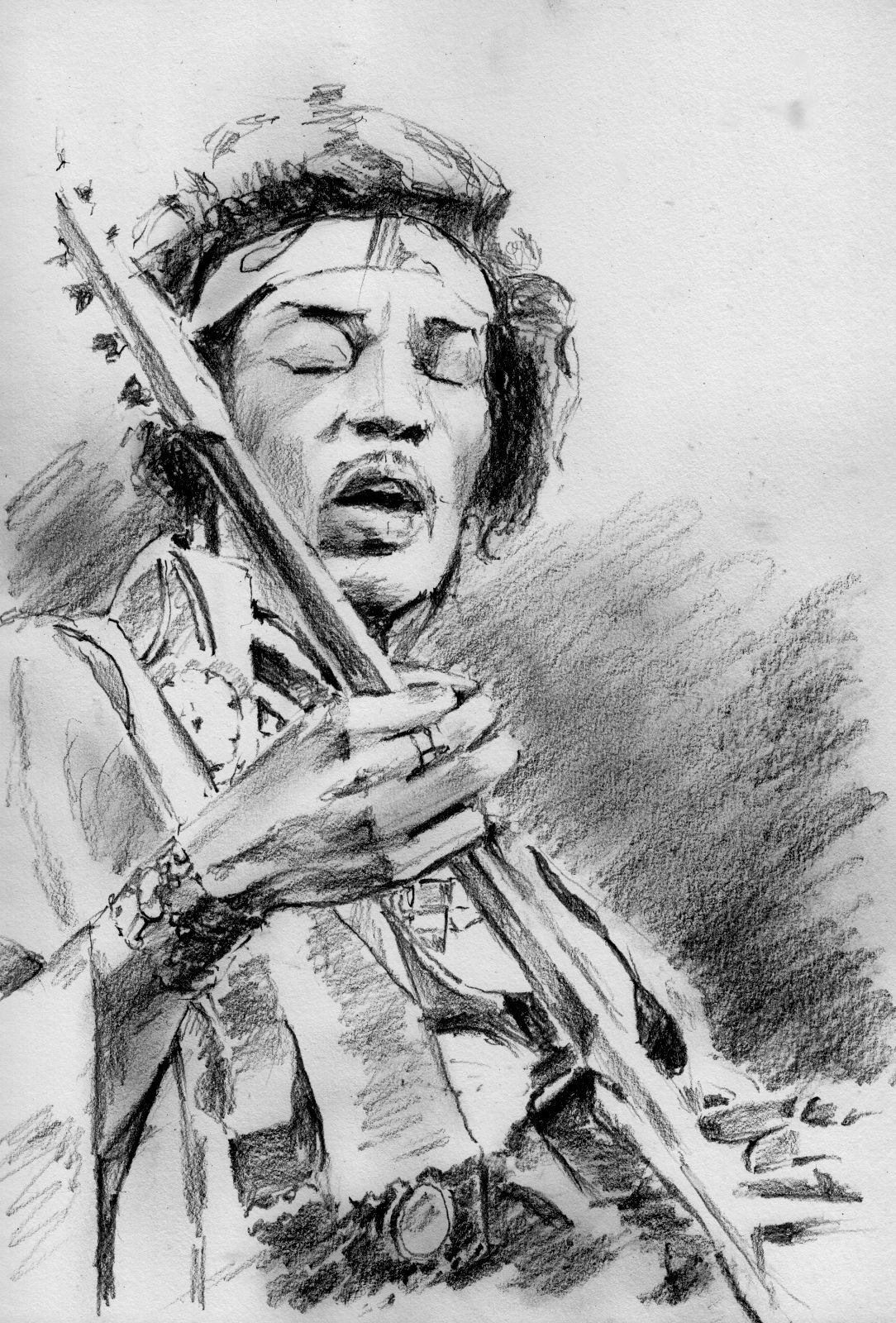 EXCLUSIVE A4 PRINT MUSIC /& GUITAR LEGEND JIMI HENDRIX SIGNED PRINTED