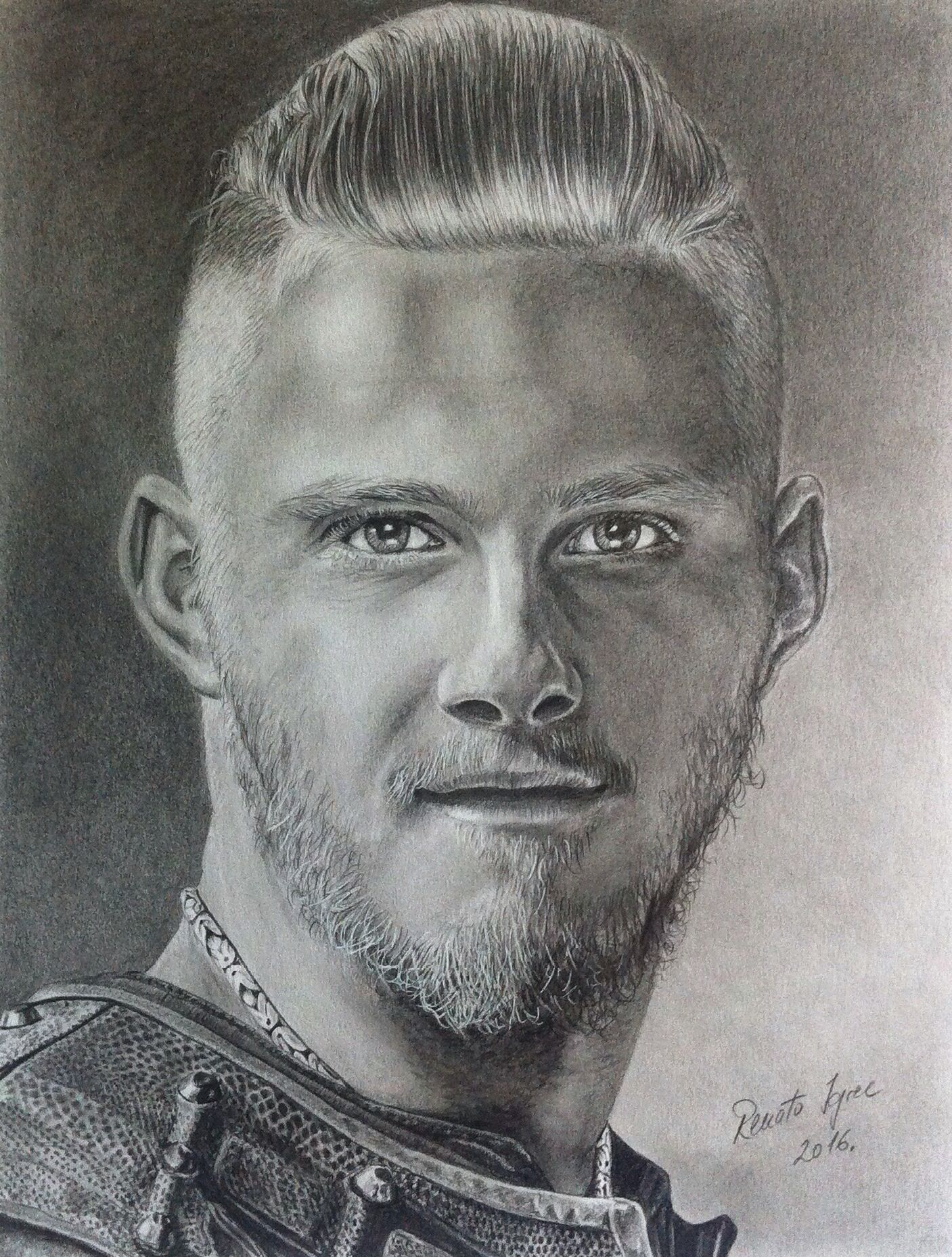 Bjorn from vikings done with graphite pencils on a3 paper for Viking pencils