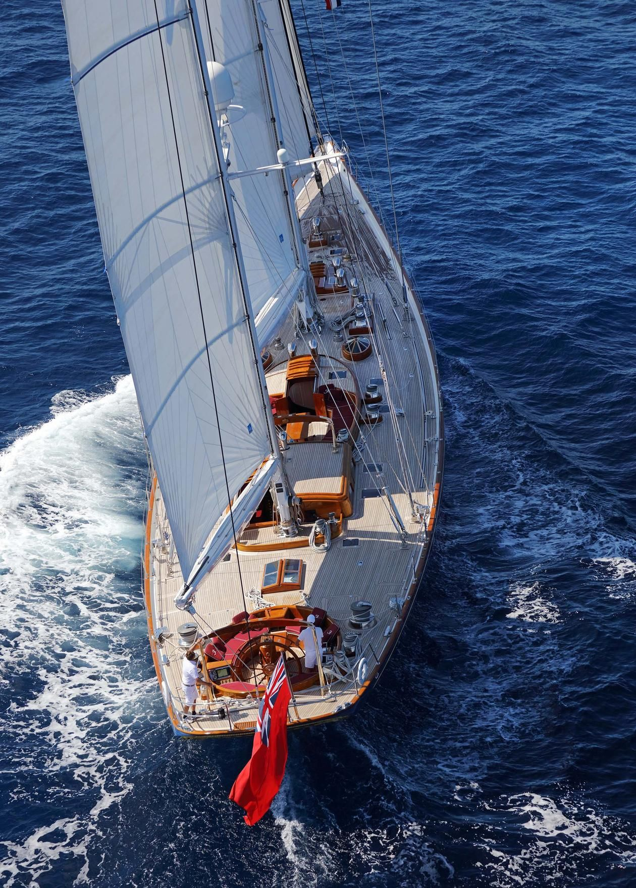 Classic style combines with modern onboard living onboard ALEJANDRA. With an ultra-manoeuvrable hull design, a responsive sailing system and a large sail plan, she performs even in the lightest winds. ALEJANDRA's regatta-winning heritage includes Maxi and classic yacht regattas. She also has transatlantic cruising capability under power. Designed to an exquisite level of attention to detail by Bruce King, Cuban mahogany interiors are made with custom skylights to bring sea breezes inside. On…