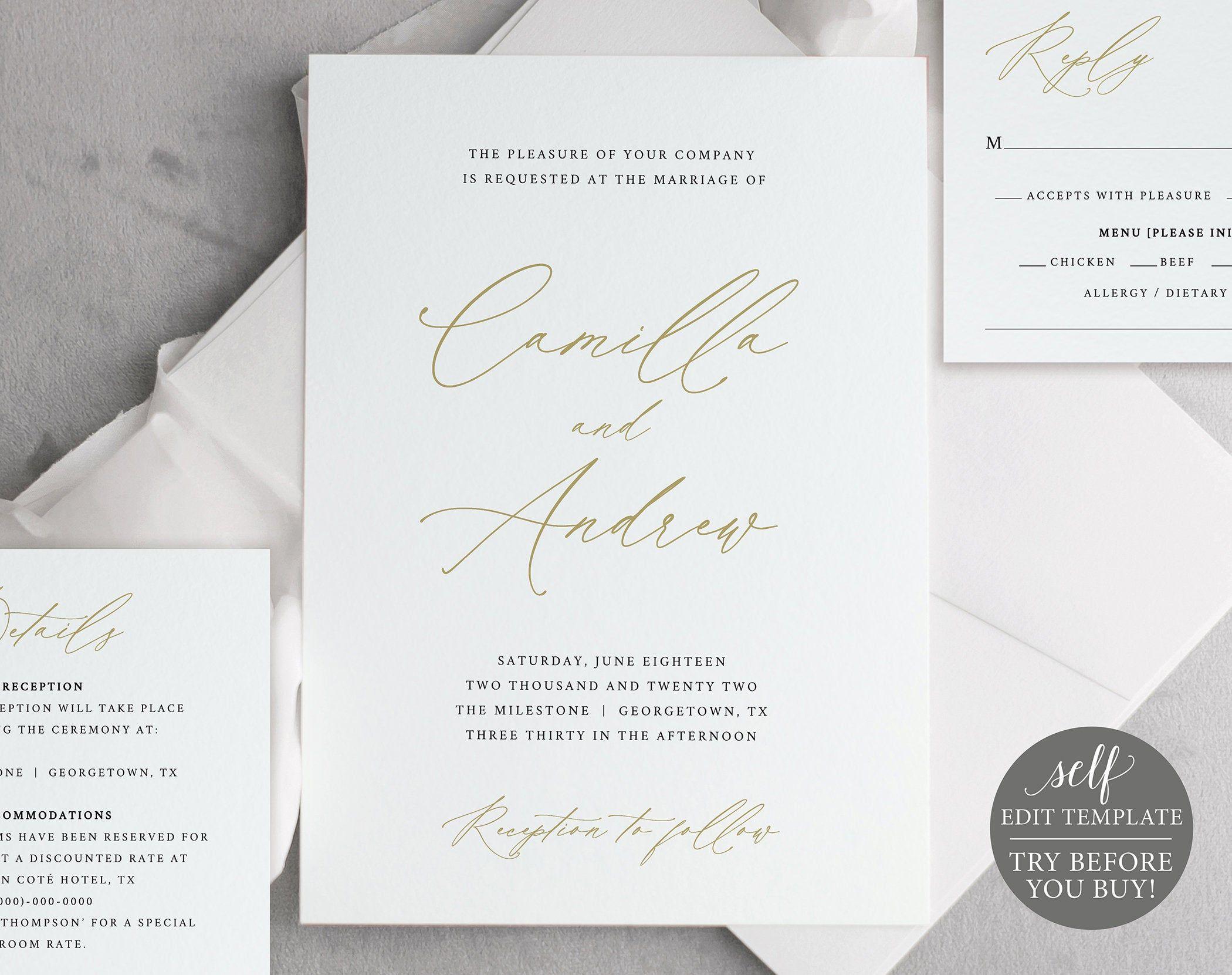 Wedding Invitation Templates, Free Demo Available