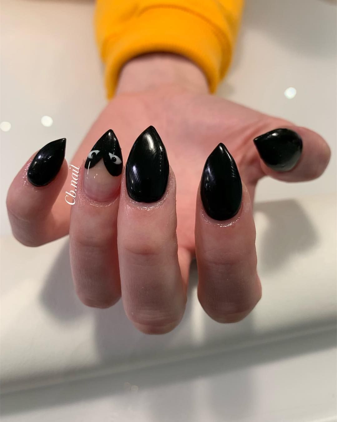 Commes Des Garcons Nails Stiletto Nails Short Nails Heart Nails Black Nails Nail Art Nail Des Stiletto Nails Short Heart Nails Stiletto Nails Short Black