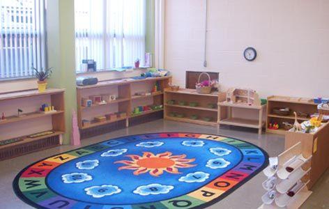 A beautiful, modern Montessori classroom