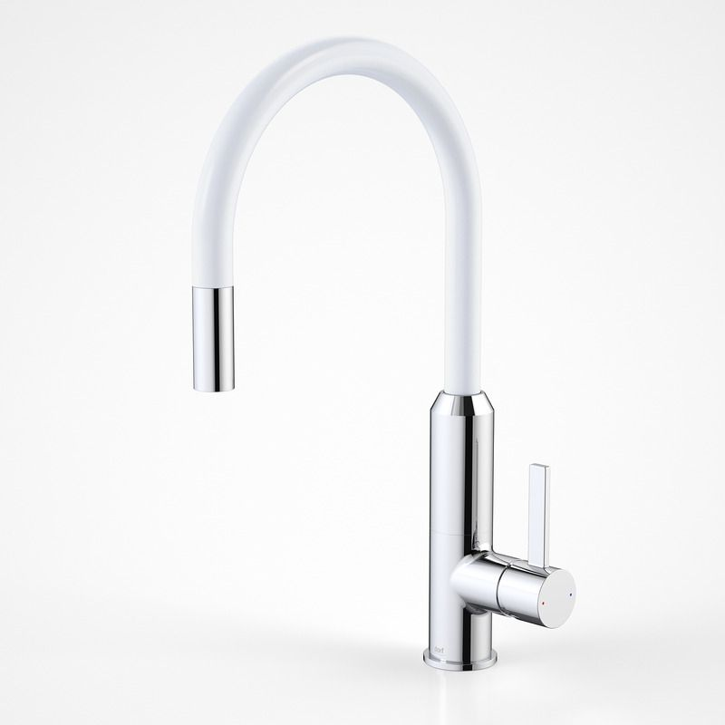 White Kitchen Mixer Tap dorf vixen kitchen sink mixer - white - as seen in three birds
