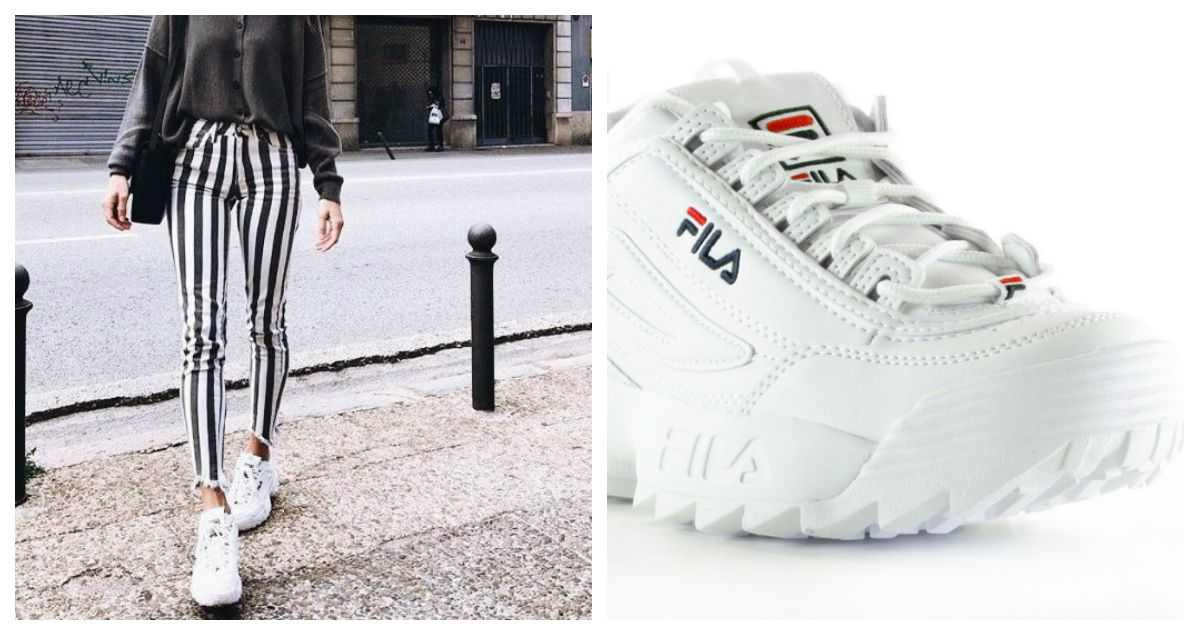 ed63e658489 FILA Disruptor Low White Sneakers in 2019 | TRENDS FALL/WINTER 2018 ...