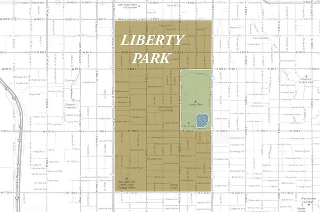 Salt Lake City Liberty Park Neighborhood Map Places To Live In