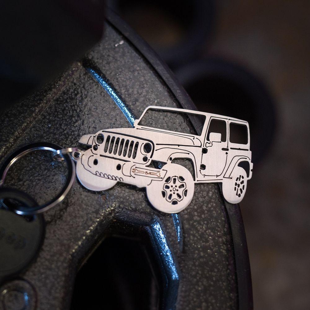 Jeep Wrangler Accessories Key Chain Detailed 2door Jk Stainless