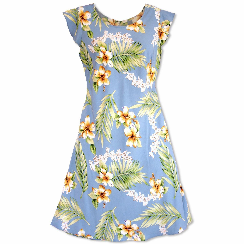 Blue apron hawaii - Atoll Blue Xoxo Hawaiian Dress Hawaiian Dressesapron