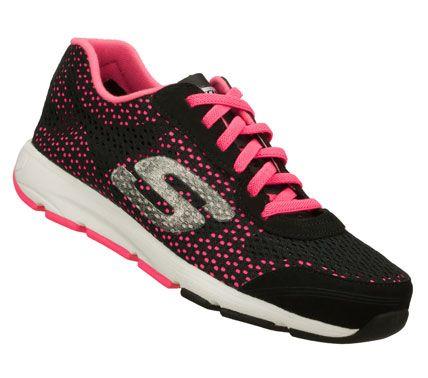 SKECHERS Womens Entourage Slip-on Sneakers - Black/Pink - 5.5