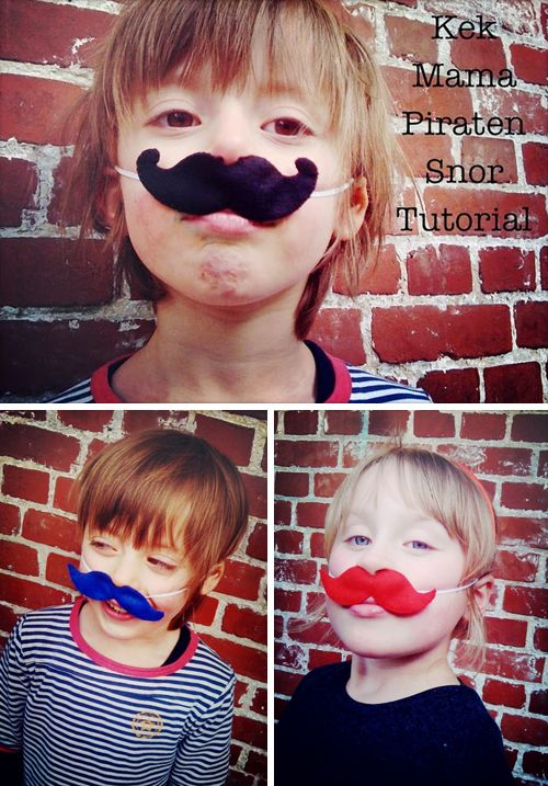 Happy Wednesday everyone, I just wanted to quickly share a great felt moustache tutorial I discovered over at MaandagDaandag!