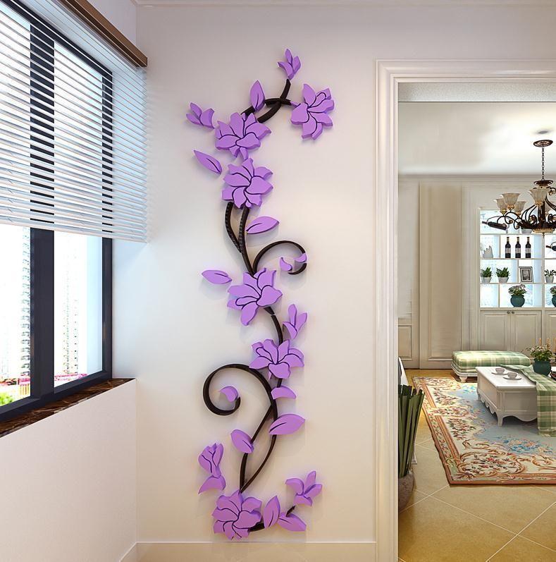 3D Butterfly Flower Fairy Floral Girl Wall Sticker Home Decor Decals