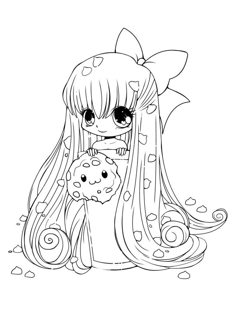 Anime Cat Coloring Page In 2020 Chibi Coloring Pages Cute Coloring Pages Princess Coloring Pages