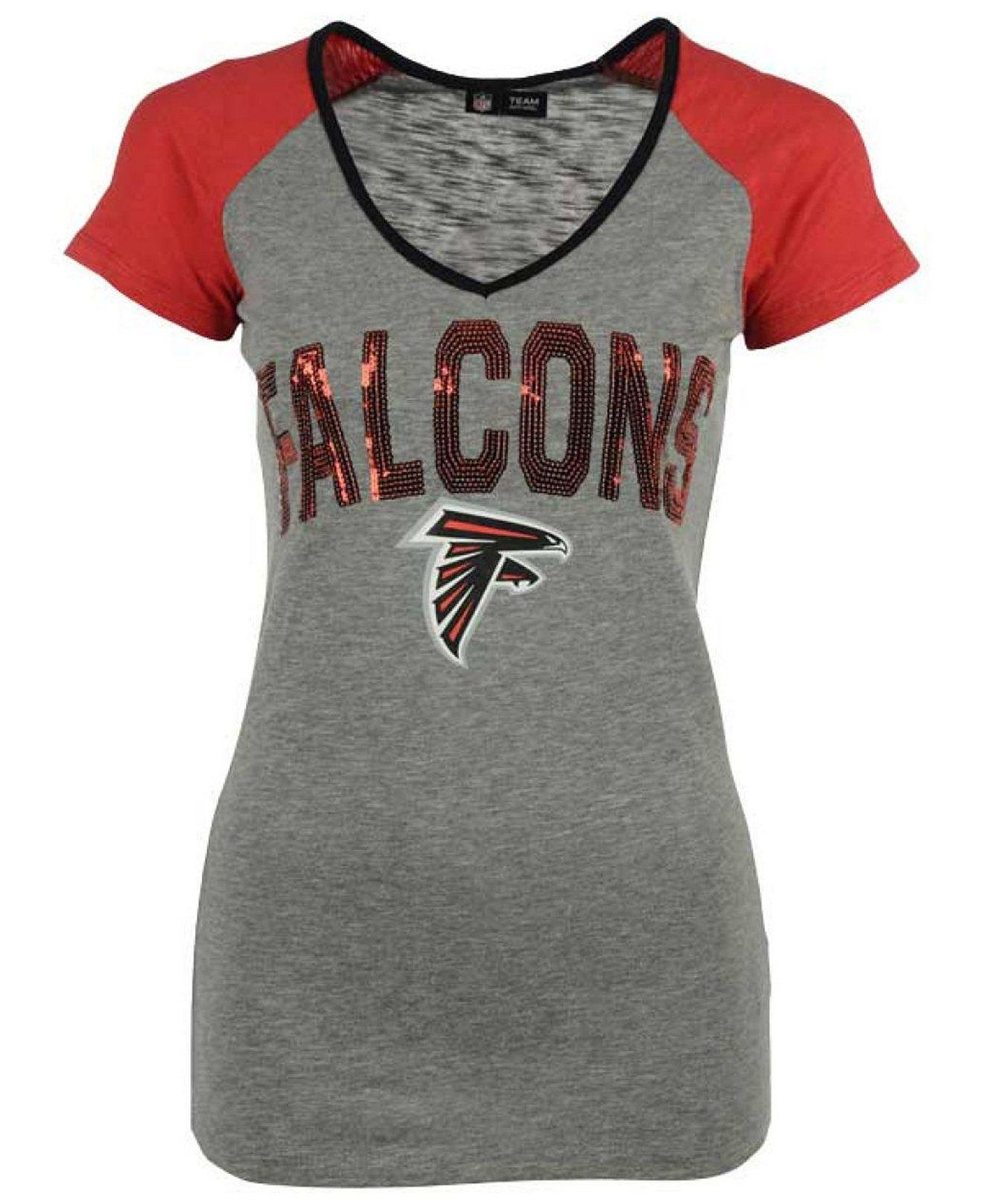 5th & Ocean Women's Atlanta Falcons Sequin T Shirt Sports Fan Shop  hot sale