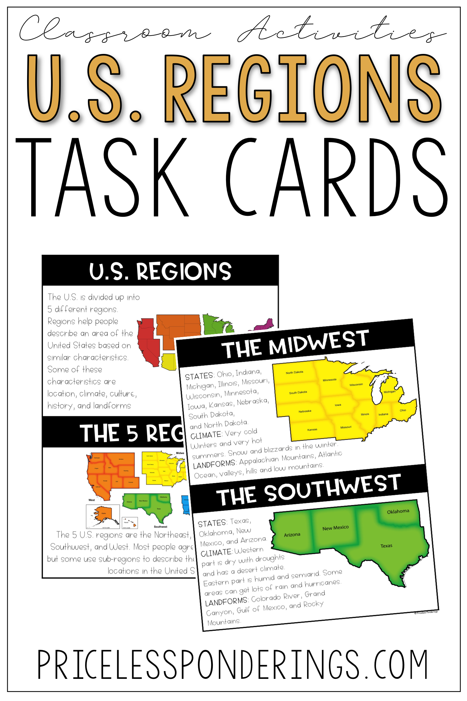 U S Regions Activities And Worksheets