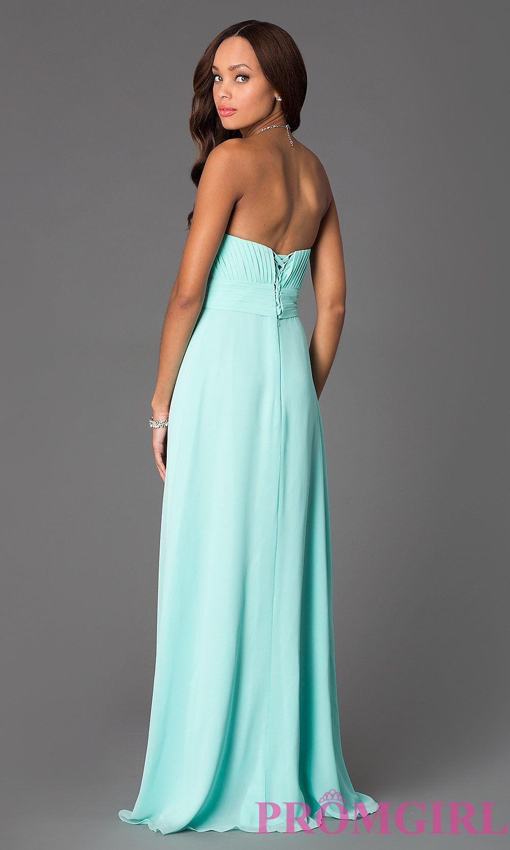 Long Strapless Empire Waist Prom Dress | Formal dresses, Formal ...