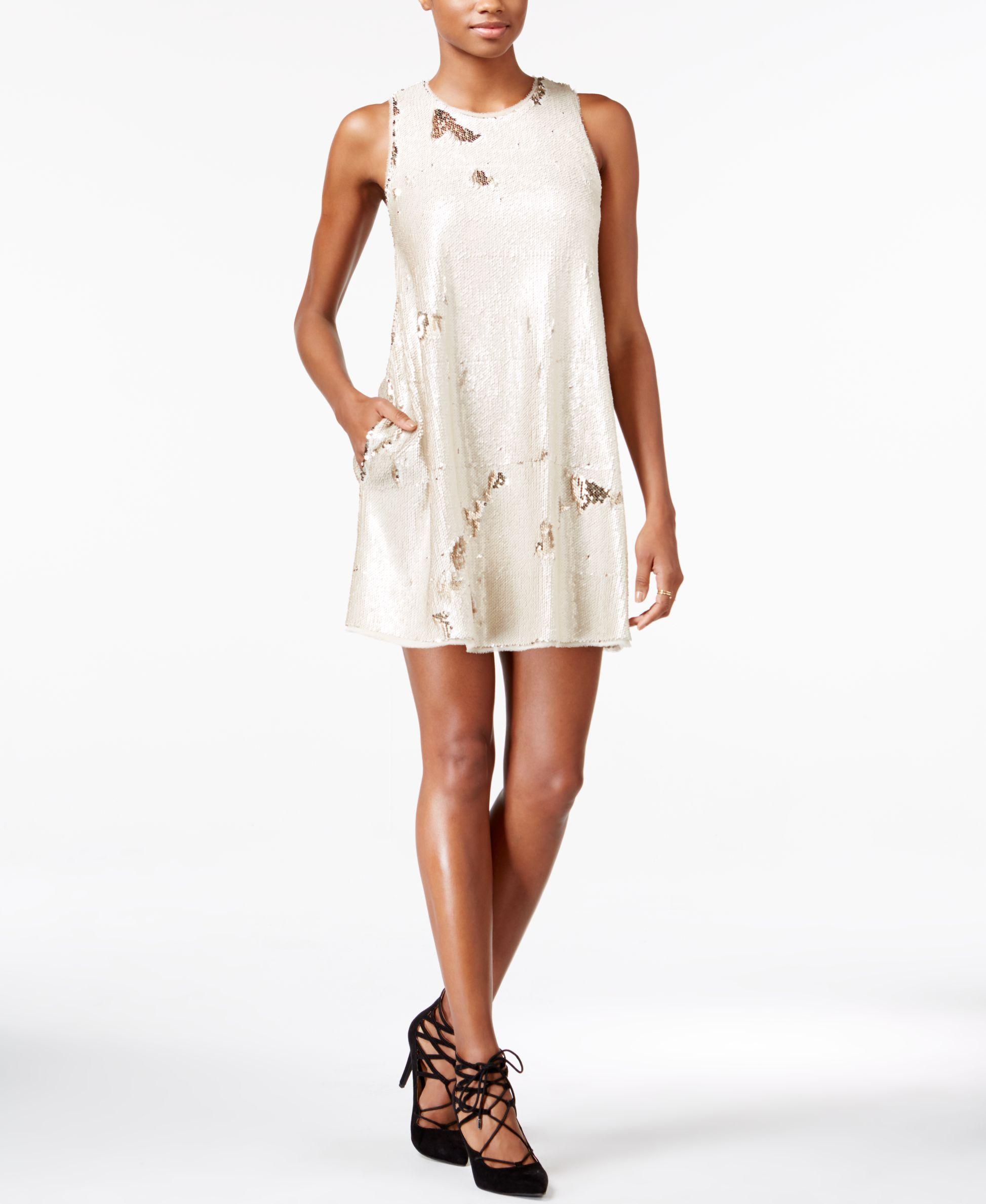 rachel rachel roy sequined shift dress products pinterest