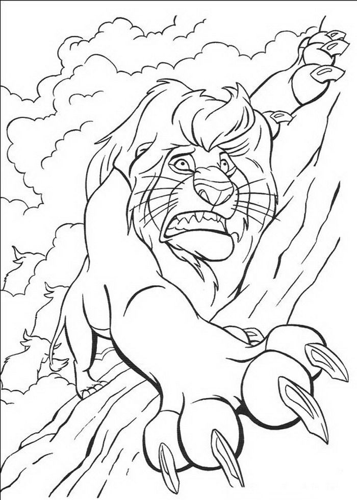 Coloring Page Lion King Lion King Lion King Drawings King