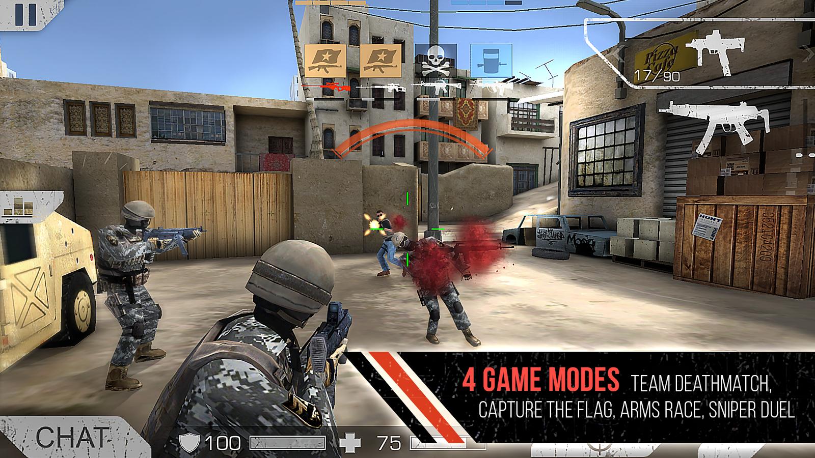 Standoff Multiplayer mod apk unlimited money, fast level up