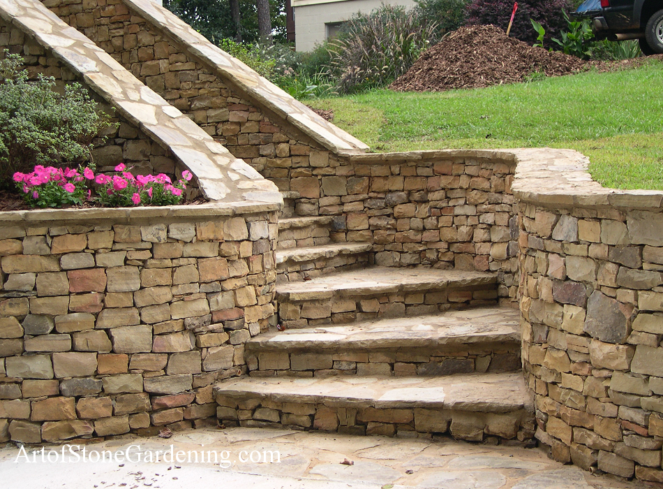 Best Outdoor Stone Stairs And Steps Art Of Stone Gardening 640 x 480