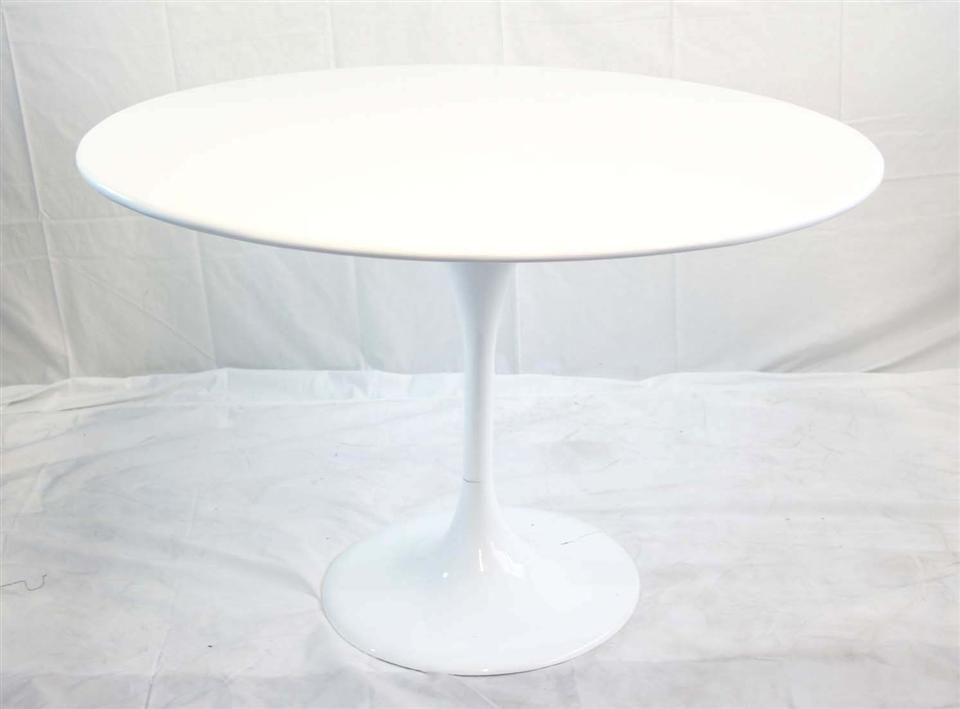 Modern Round Pedestal Dining Table modern white round pedestal dining table in choice of sizes