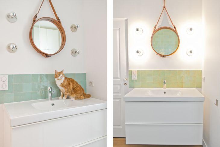carrelage vert d 39 eau au dessus lavabo sdb cocottes studio architecte d 39 int rieur paris. Black Bedroom Furniture Sets. Home Design Ideas
