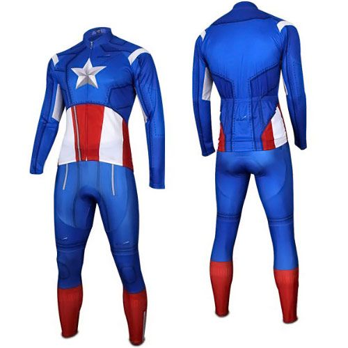 2a25b779f Captain America Costume Cycling Jersey and Pants