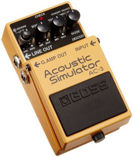 Boss Ac 3 Acoustic Simulator Guitar Pedal Guitar Pedals Guitar Effects Pedals Guitar Effects