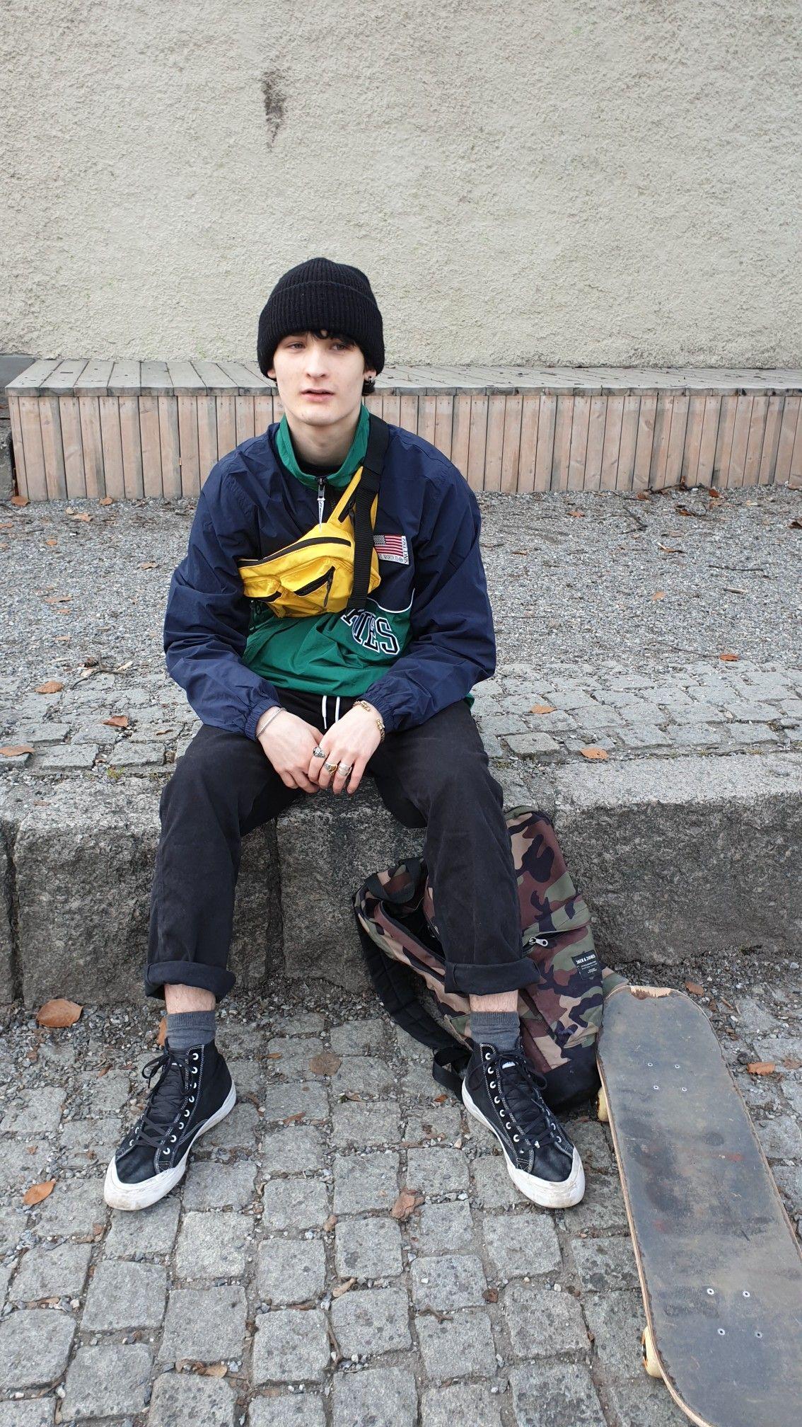 skate fashion eboy yellow dickies