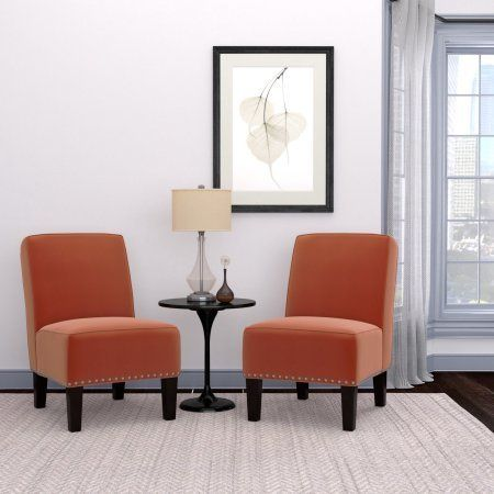 armless accent chair multiple colors set of 2