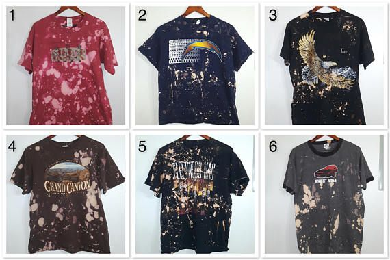 e2924320b You Choose Distressed Grunge Tee vintage T-shirts old shirts! The  Cranberries! Band Tees! Night Rider! Bleached Shirt!